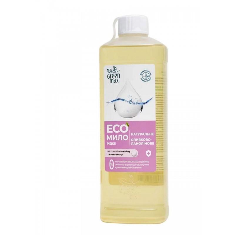 Экомыло жидкое оливково-ланолиновое Green max 500 мл