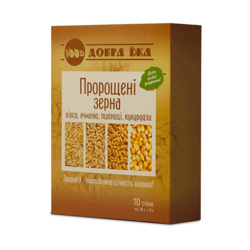 Пророщенные зерна в стиках 10 по 10 г