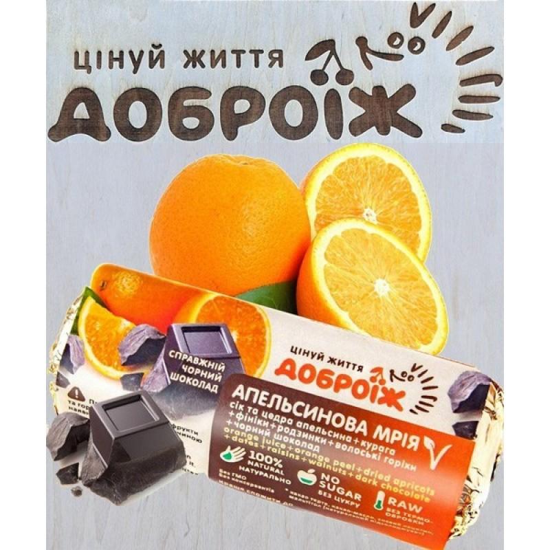 Батончик Апельсиновая мечта в шоколаде Доброїж