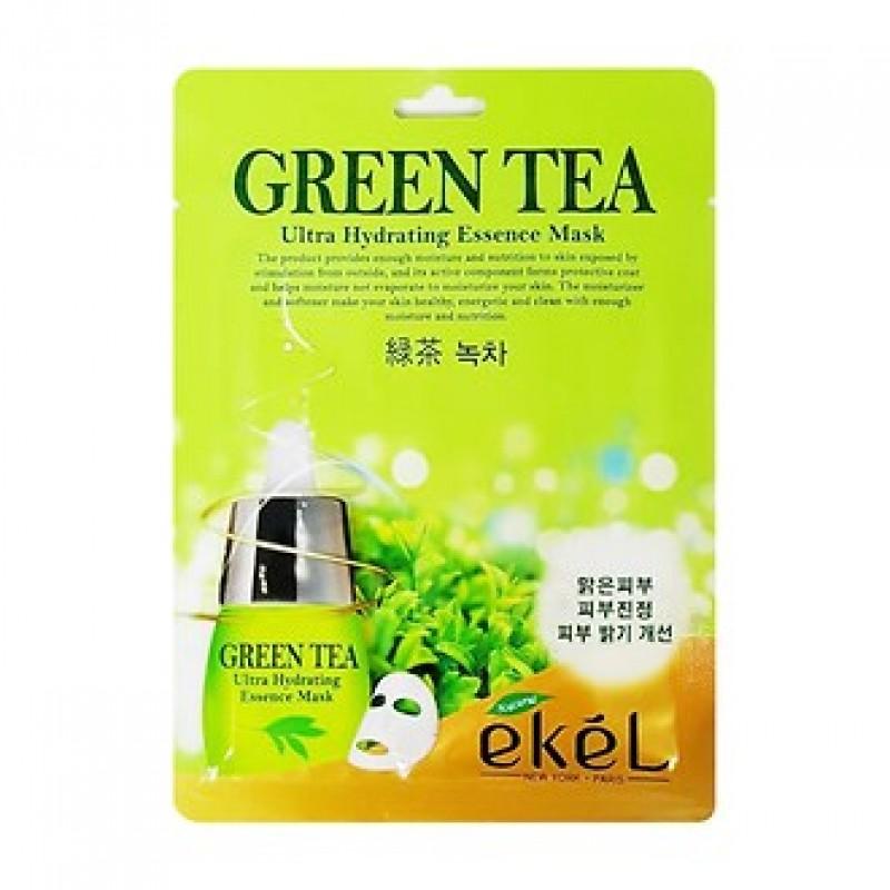 Тканевая маска с экстрактом зеленого чая Ekel